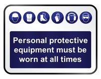 Gezondheid en veiligheidsteken royalty-vrije illustratie