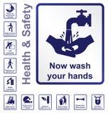 Gezondheid en veiligheidstekens Stock Afbeelding