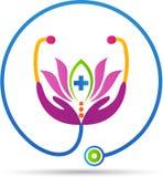Gezondheid en wellnesszorg stock illustratie