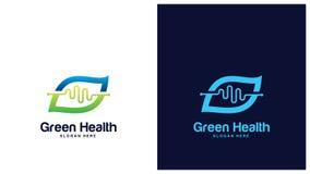 Gezondheid Logo Design Concept, Verschillende types van gezondheidsemblemen, Eenvoudig Logo Design Vector Stock Afbeeldingen
