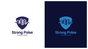 Gezondheid Logo Design Concept, Verschillende types van gezondheidsemblemen, Eenvoudig Logo Design Vector Stock Afbeelding