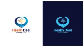Gezondheid Logo Design Concept, Verschillende types van gezondheidsemblemen, Eenvoudig Logo Design Vector Royalty-vrije Stock Foto
