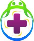 Gezondheid plus embleem stock illustratie