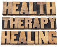 Gezondheid, therapie en het helen Stock Foto