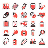Gezondheids medische vectorpictogrammen Royalty-vrije Stock Foto's