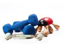 Gezondheidsbevordering het spelen sporten Stock Foto