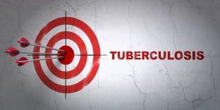 Gezondheidsconcept: doel en Tuberculose op muurachtergrond Royalty-vrije Stock Fotografie