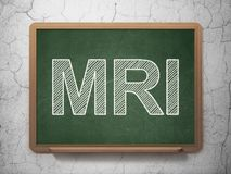 Gezondheidsconcept: MRI op bordachtergrond Royalty-vrije Stock Foto's