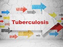 Gezondheidsconcept: pijl met Tuberculose op de achtergrond van de grungemuur Stock Fotografie
