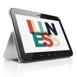 Gezondheidsconcept: Tabletcomputer met Ziekte op vertoning Royalty-vrije Stock Foto