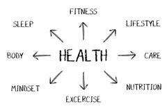 Gezondheidsdiagram Royalty-vrije Stock Afbeeldingen
