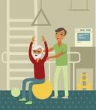 Gezondheidsreeks royalty-vrije illustratie