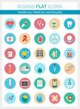 Gezondheidszorg en Geneeskundepictogrammen Stock Illustratie