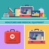 Gezondheidszorg en medische apparatuur royalty-vrije illustratie