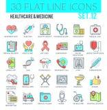 Gezondheidszorg & geneeskundepictogrammen Royalty-vrije Illustratie