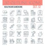 Gezondheidszorg & geneeskundepictogrammen Vector Illustratie