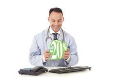 Gezondheidszorg op verkoop, 20% Royalty-vrije Stock Afbeelding