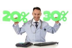 Gezondheidszorg op verkoop, 20% en 30% Stock Fotografie