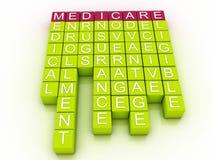 Gezondheidszorg voor bejaarden-Word Wolkenconcept Royalty-vrije Stock Foto