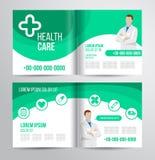 Gezondheidszorgbrochure Stock Afbeeldingen