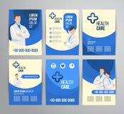 Gezondheidszorgbrochure royalty-vrije illustratie