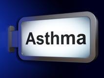 Gezondheidszorgconcept: Astma op aanplakbordachtergrond Stock Fotografie
