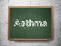 Gezondheidszorgconcept: Astma op bordachtergrond Royalty-vrije Stock Afbeelding