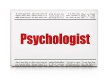 Gezondheidszorgconcept: de Psycholoog van de krantenkrantekop Royalty-vrije Stock Foto