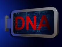 Gezondheidszorgconcept: DNA op aanplakbordachtergrond Royalty-vrije Stock Foto's