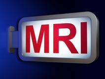 Gezondheidszorgconcept: MRI op aanplakbordachtergrond Stock Afbeelding