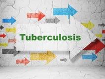 Gezondheidszorgconcept: pijl met Tuberculose op de achtergrond van de grungemuur Royalty-vrije Stock Foto