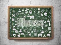 Gezondheidszorgconcept: Ziekte op de achtergrond van de Schoolraad Royalty-vrije Stock Foto's