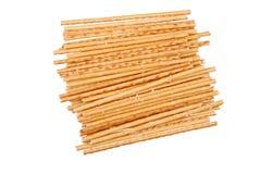 Gezouten breadsticks geïsoleerd op wit royalty-vrije stock foto