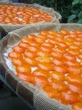 Gezouten Duck Eggs Yolk Under Sunlight Stock Afbeeldingen