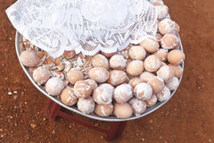 Gezouten Gekookte Eieren Stock Fotografie