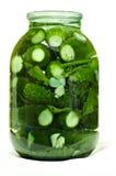 Gezouten ingelegde komkommers Royalty-vrije Stock Afbeelding