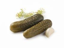 Gezouten komkommers Stock Foto's