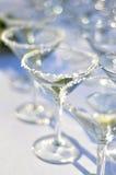 Gezouten Margarita Glasses Royalty-vrije Stock Afbeeldingen