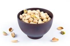 Gezouten pistaches in kom Stock Fotografie