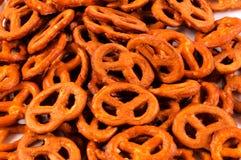 Gezouten pretzels royalty-vrije stock afbeeldingen