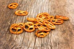 Gezouten pretzels royalty-vrije stock foto's