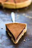 Gezouten Scherpe Karamel en Chocolade stock foto's
