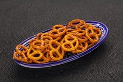 Gezouten smakelijke pretzel royalty-vrije stock foto's