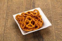 Gezouten smakelijke pretzel royalty-vrije stock fotografie