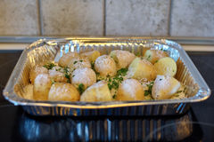 Gezouten Verse Aardappels Royalty-vrije Stock Afbeelding