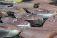 Gezouten vissen (droge vissen) in markt Royalty-vrije Stock Fotografie