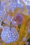 Gezuckerte Jordanien-Mandel an der Hochzeitszeremonie mit Stammglas Stockbilder