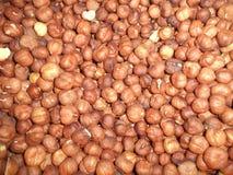 Gezuiverde pit van de hazelnoot stock fotografie