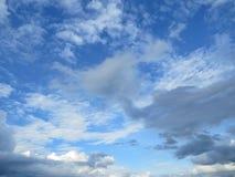 Gezwollen witte wolken Stock Fotografie