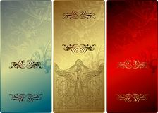 Gfit Card. Illustration of Vintage Floral Background Textures Stock Photography